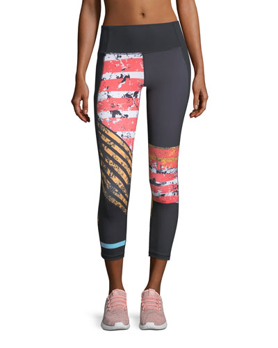 Mirror High-Rise Printed Crop Performance Leggings