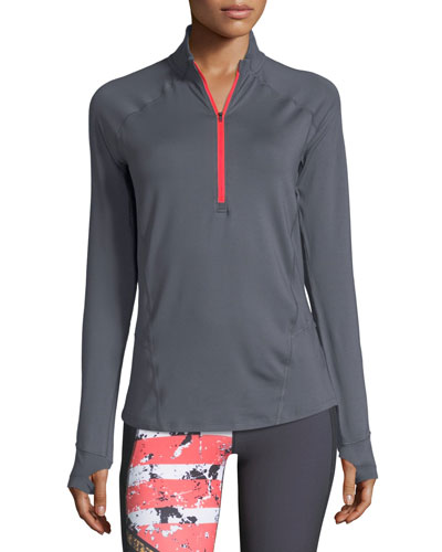 Run True Half-Zip Long-Sleeve Performance Jacket
