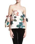 Benita Off-the-Shoulder Floral-Print Structured Top