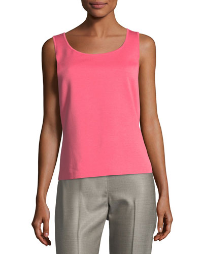 Scoop-Neck Milano Knit Tank