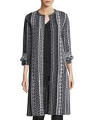Vertical Striped Tweed Jacket
