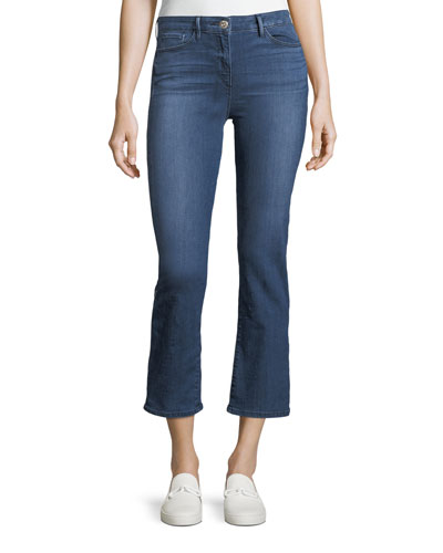 Midway Low-Rise Flared Cropped Jeans
