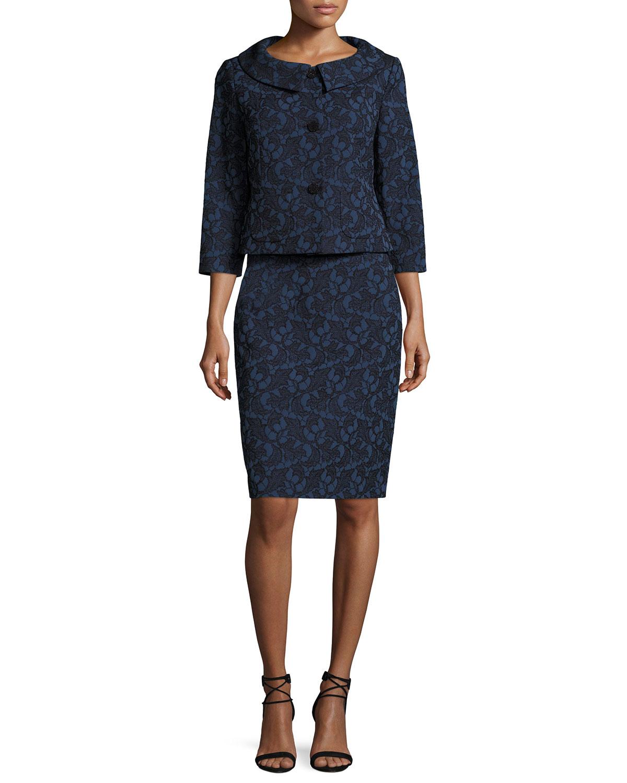 Webbed-Lace Skirt w/ Jacket