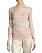 Welted Sequined Knit Tank