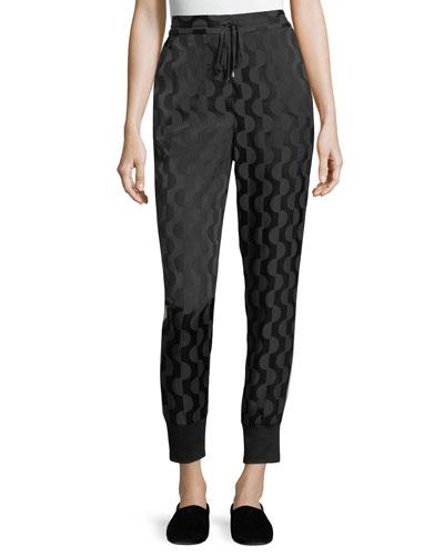 Geometric Charmeuse Pants