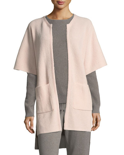 Cashmere Knit Cardigan w/ Patch Pockets