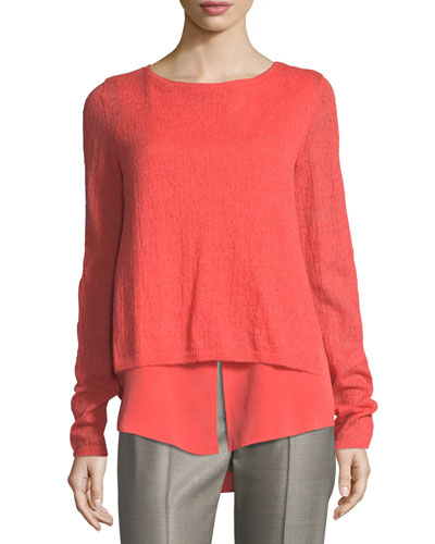 Drop-Needle Sweater