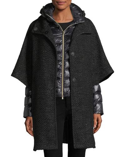 3-in-1 Cape Puffer Coat