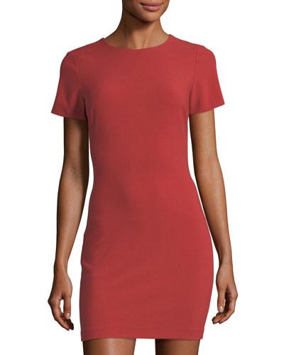 Manhattan Sheath Mini Dress, Red