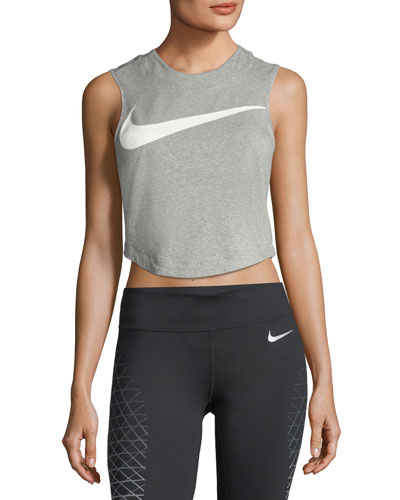 Swoosh Sleeveless Crop Top