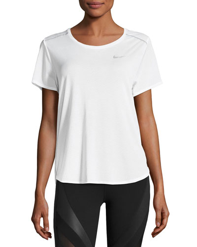 Breathe Short-Sleeve Open-Back Running Top