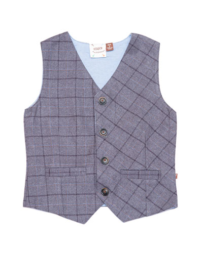 Club Plaid Vest, Size 2-8