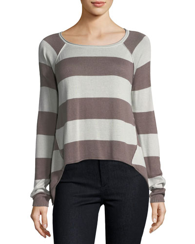 Jenn Raglan Striped Sweater