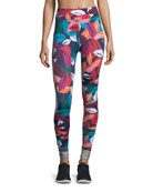 Adventure Time Multicolor Full-Length Yoga Leggings