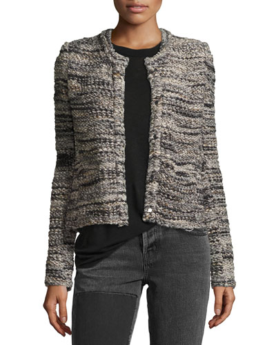 Carene Long-Sleeve Boucle Jacket