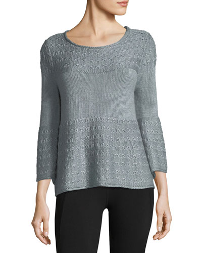 Olivia Mixed-Stitch Sweater