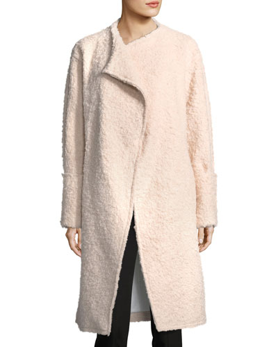 Paloma Wide-Cuffed Wool-Blend Long Coat