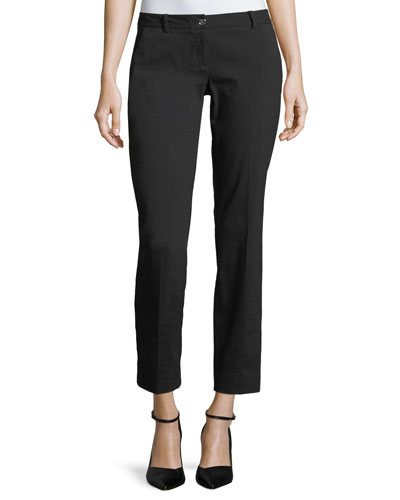 Miranda Slim-Leg Cropped Pants