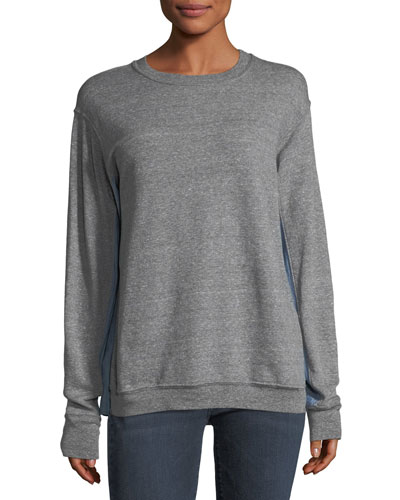 The Duo Crewneck Cotton Sweatshirt