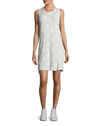 The Muscle Tee Star-Print Dress