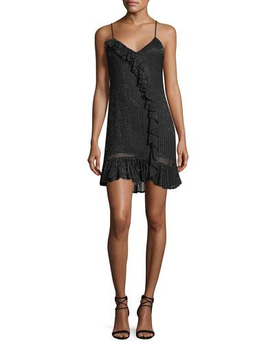 Kiara V-Neck Sequin Slip Cocktail Dress