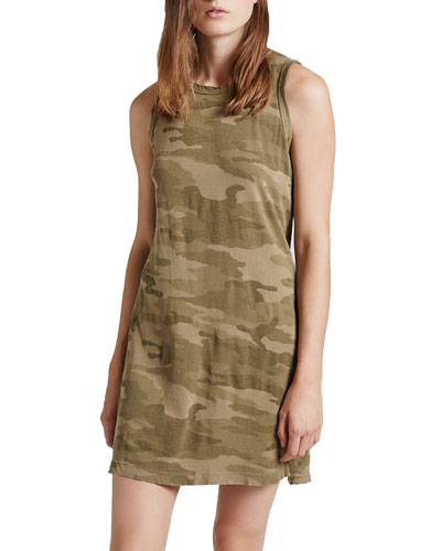The Muscle Tee Camo-Print Dress