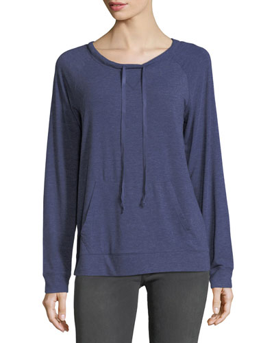 Drawstring-Neck Raglan Top
