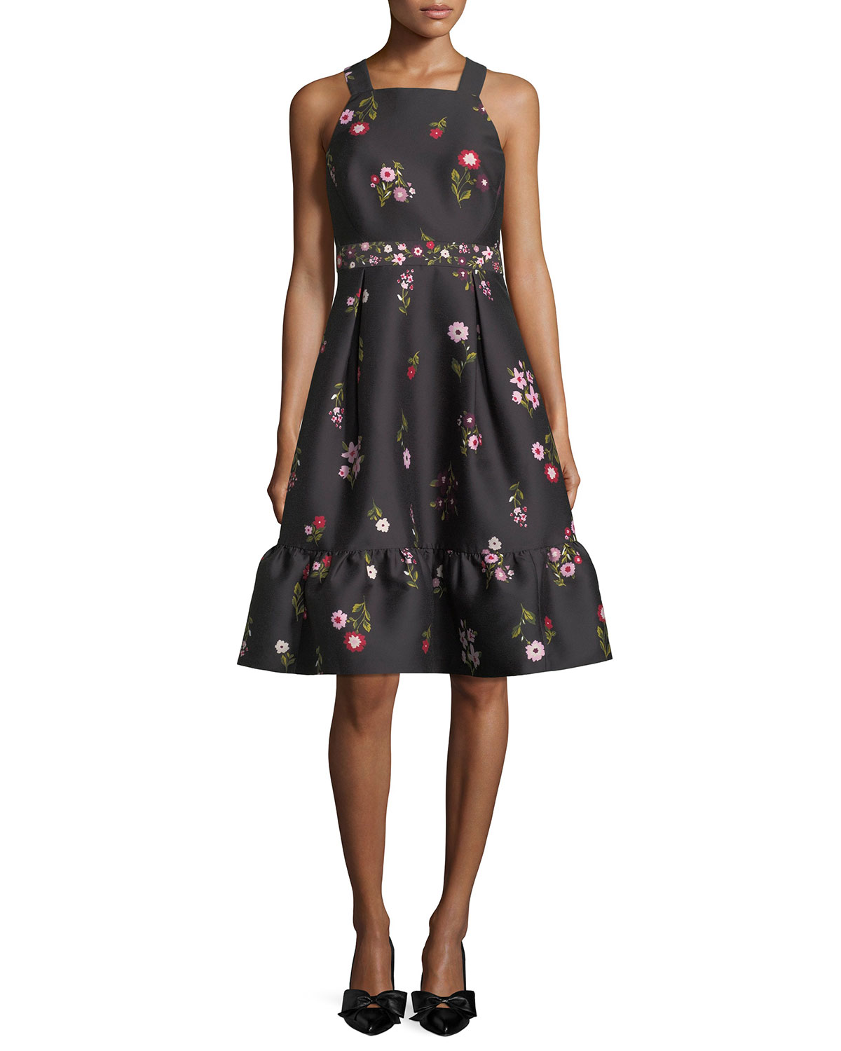 in-bloom fit-and-flare sleeveless dress
