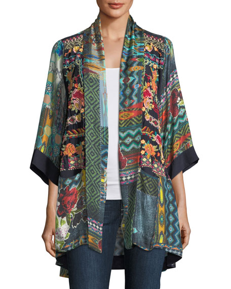 Johnny Was Koben Canvas Embroidered Twill Kimono