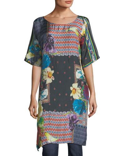 Mabel Long Silk Tunic