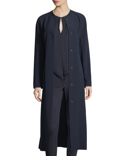 Bella Double Weave Maxi Coat