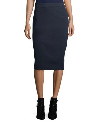 Bella Double-Weave Pencil Skirt