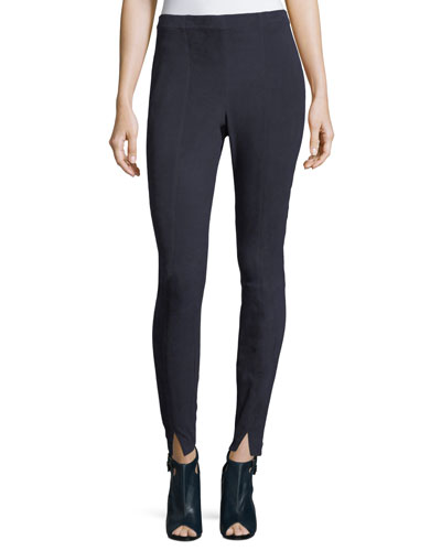 St John Collection Stretch Suede Leggings