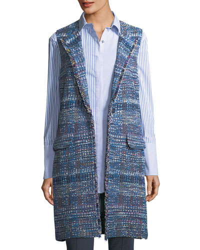 Watercolor Placed Knit Vest