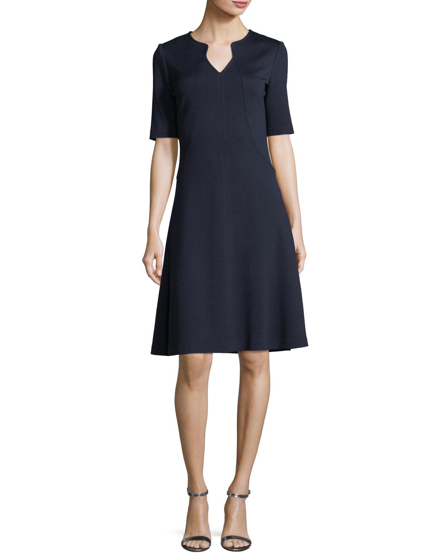 Milano Knit A-line Dress