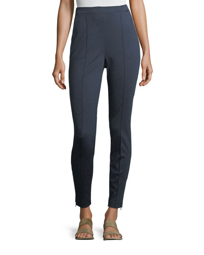 Melange Stretch-Ponté Pull-On Leggings