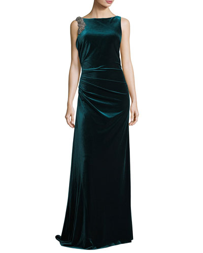 A line evening gown neiman marcus quick look junglespirit Choice Image
