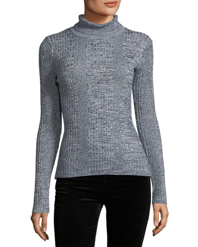 Mock-Neck Textured-Knit Sweater