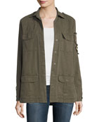 Soft Cotton-Blend Patch Jacket