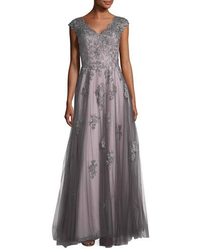 Contemporary evening gown neiman marcus quick look junglespirit Choice Image