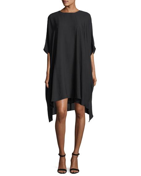 St. John Collection Silk Georgette Draped Dress