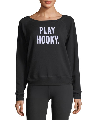 x kate spade new york play hooky pullover sweatshirt