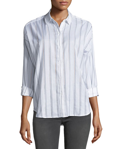 Josephine Striped Button-Front Shirt