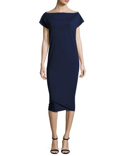 Shirley Midi Shift Dress, Blue