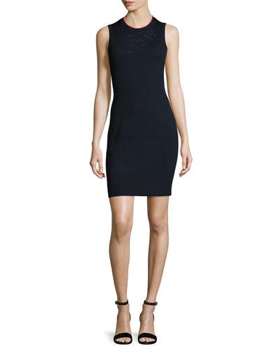 Adriana Sleeveless Knit Sheath Dress