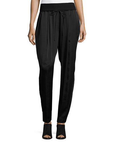 Barclay Ribbed-Waist Pants