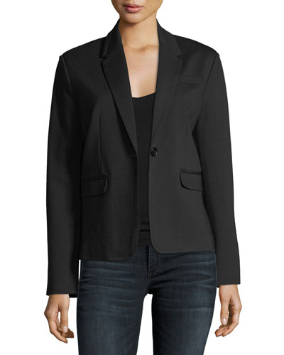 Ponte-Knit Blazer Jacket