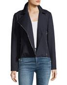 Ponteé-Knit Moto Jacket