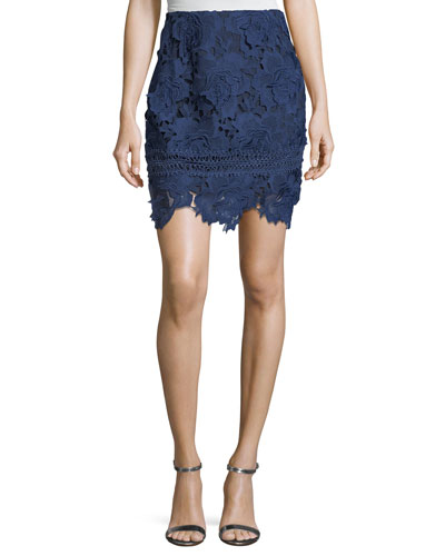Incense Floral-Lace Skirt