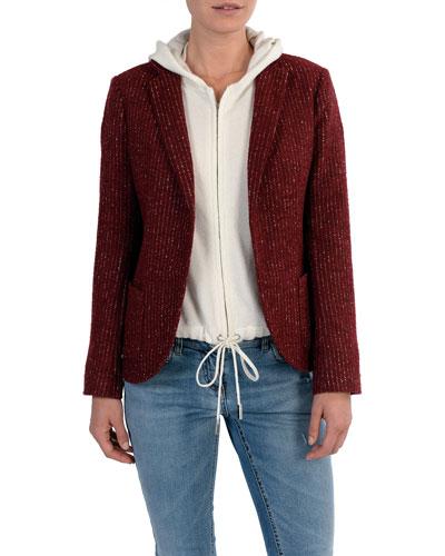 Relaxed Pinstriped Wool-Blend Blazer